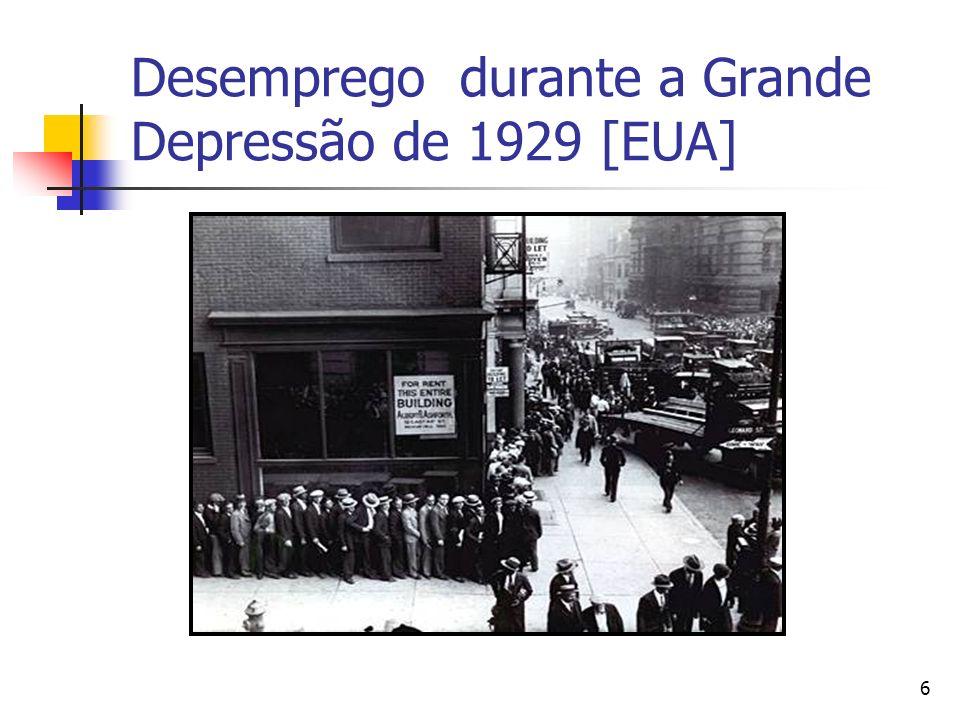 Desemprego durante a Grande Depressão de 1929 [EUA]
